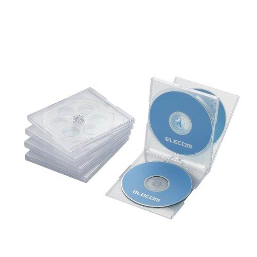 エレコム Blu-ray/DVD/CDケース 標準/PS/4枚収納 CCD-...