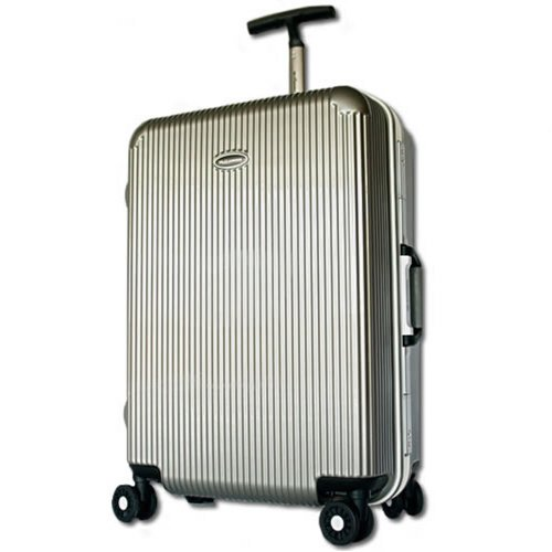 BB-Monsters スーツケース TSAロック搭載 深溝式フレーム Crom cruach (中型(M), ブラッシュシルバー)