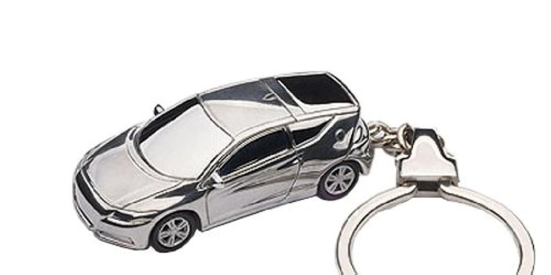 AUTOart 1/87スケール ホンダ CR-Z キーチェーン (アルミニウム) 完成品