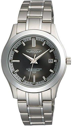 オレオール AUREOLE 日本製 腕時計 オールステンレス メタルバンドウォッチ SW-490M-1 メンズ