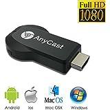 AnyCast ドングルレシーバー HDMIWiFiディスプレイ ミラーリング ワイヤレス Wi-Fi iOS Android Windows MAC OSシステム通用 CE RoHS認証 日本語説明書付き