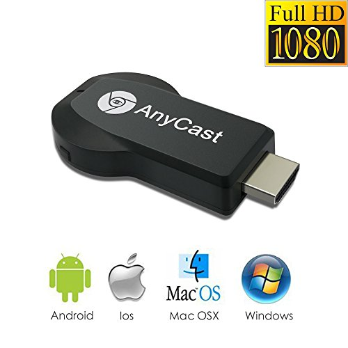 Anycast ドングルレシーバー ミラーリング ワイヤレス HDMIWiFiディスプレイ Wi-Fi iOS、Android、 Windows、MAC OSシステム通用 CE/RoHS認証
