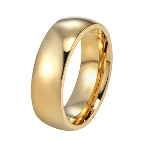 PROSTEEL ステンレス 指輪 リング メンズ アクセサリー シンプル風 6mm シルバー/ゴールド/ブルー 10号〜29号