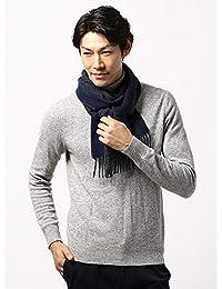 (ザ・スーツカンパニー) blazer's bank.com/ヘリンボーン柄ウールマフラー/Fabric by MOON/ブルー