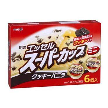 明治 スーパーカップミニクッキーバニラ 90ml×6個×8個