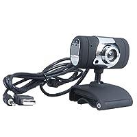 SONONIA USB 2.0  HD ウェブカメラ 360度 回転 CMOS センサー マイク付き コンピュータ ラップトップ用