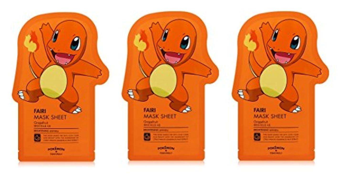 劇場精通した聖歌Tonymoly Pokemon Sheet Mask pack(3 Sheets) トニーモリ― ポケットモンスター マスクパック 3枚入り (FAIRI (3 Sheets))