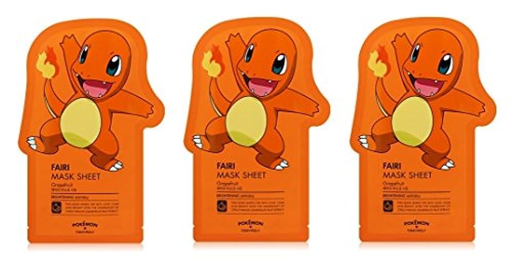 爪レパートリーマラソンTonymoly Pokemon Sheet Mask pack(3 Sheets) トニーモリ― ポケットモンスター マスクパック 3枚入り (FAIRI (3 Sheets))