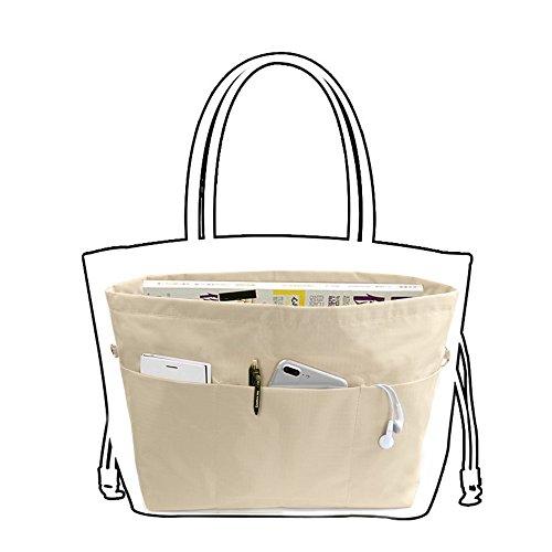 バッグインバッグSeavish bag in bag インナーバッグ バッグイン レディース メンズ (L, カーキ)