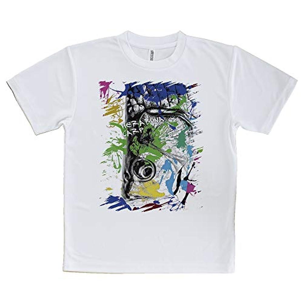 AnglersLife Tシャツ ヘラブナ ペンキペイント United Athle(ユナイテッドアスレ) ホワイト 白 ポリエステル100% 4.1oz UTF30