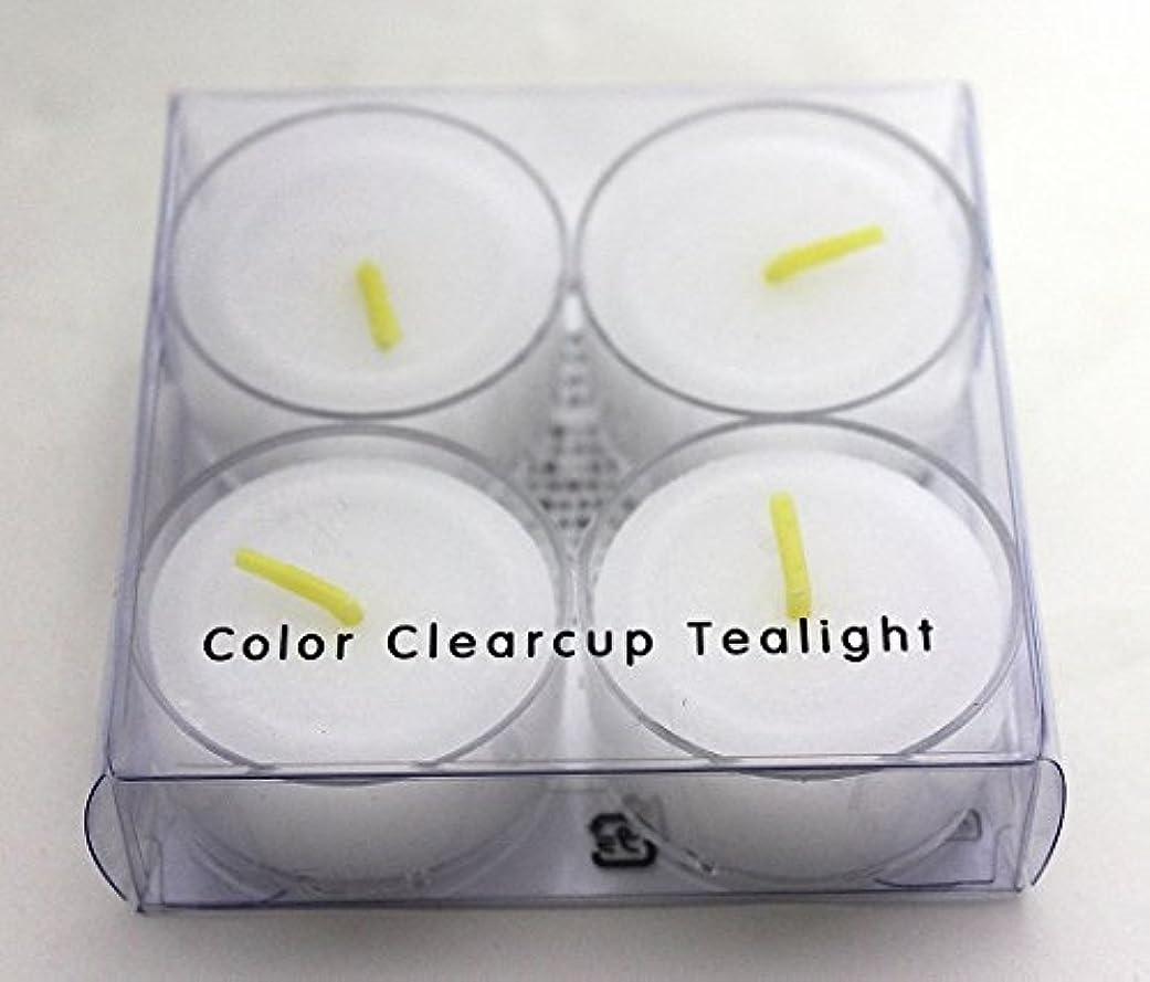 ネイティブストレスの多い重要カメヤマキャンドル(kameyama candle) カラークリアカップティーライト4個入り 「 クリア 」