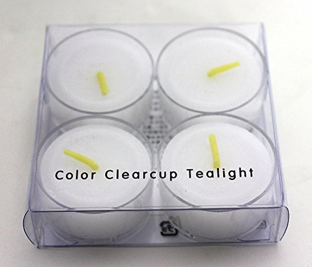 れるバイナリ道路カメヤマキャンドル(kameyama candle) カラークリアカップティーライト4個入り 「 クリア 」
