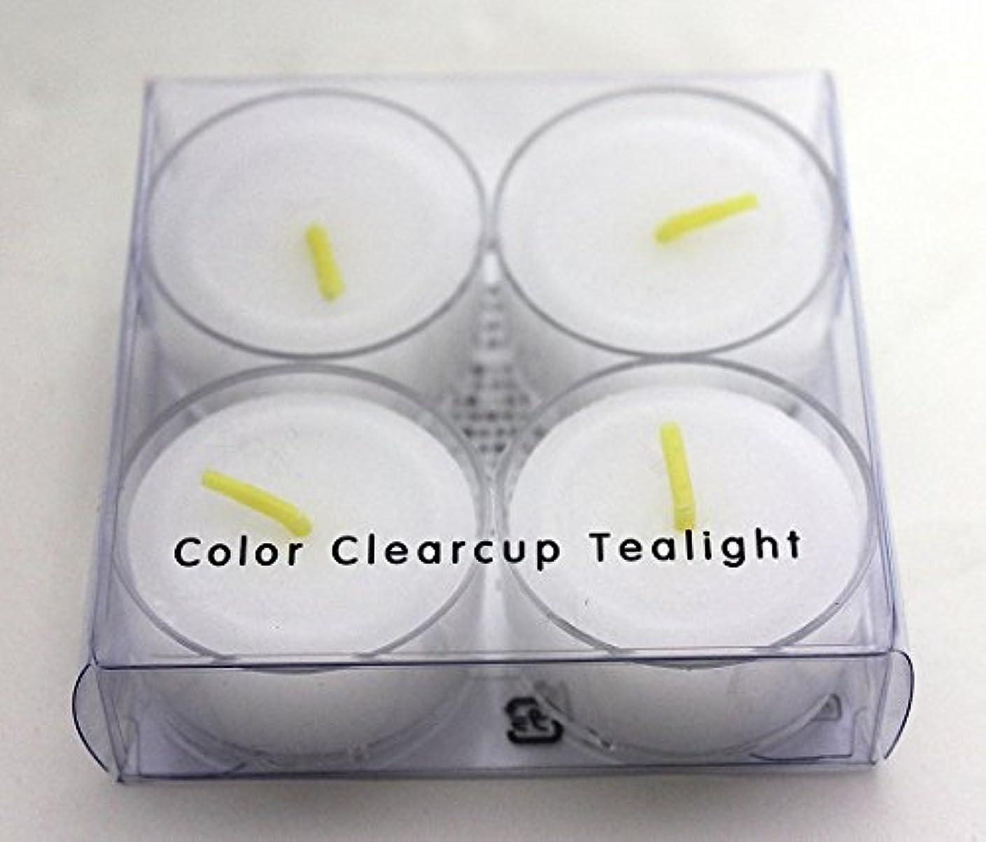 信仰不正確廊下カメヤマキャンドル(kameyama candle) カラークリアカップティーライト4個入り 「 クリア 」