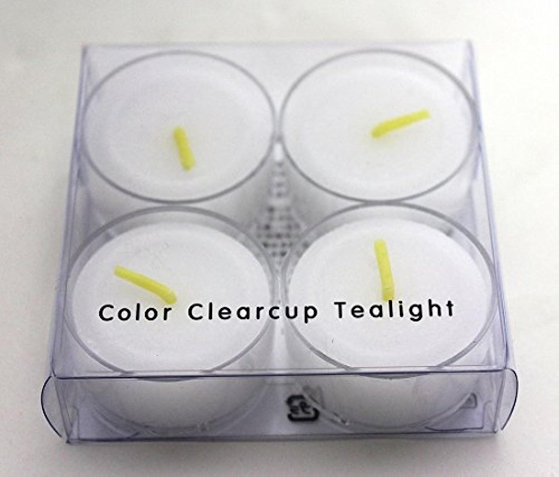 邪魔する防腐剤パンダカメヤマキャンドル(kameyama candle) カラークリアカップティーライト4個入り 「 クリア 」