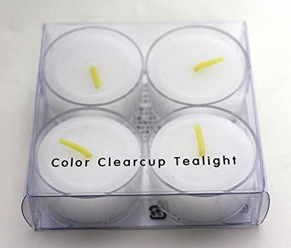 抗生物質慎重キャッシュカメヤマキャンドル(kameyama candle) カラークリアカップティーライト4個入り 「 クリア 」