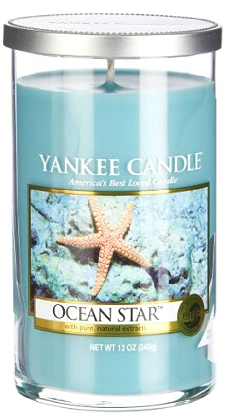 先マリンソケットYankee Candle Ocean Star、Fresh Scent Medium Perfect Pillar Candles ブルー 1308938