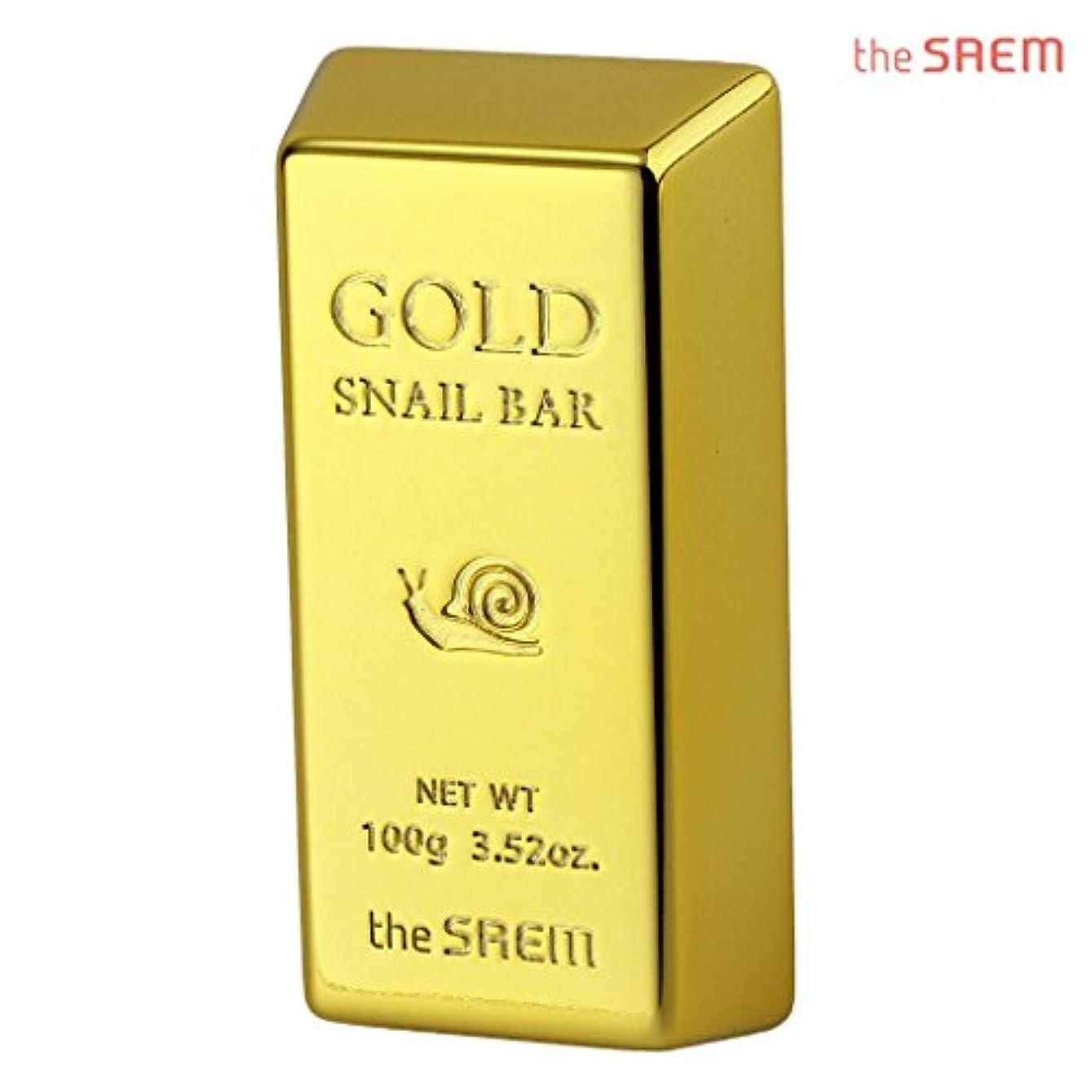 ひそかにオーラル億The Saem 24K gold snail premium facial soap セーム24Kゴールドカタツムリプレミアムフェイシャルソープ 石鹸 (100g) [海外直送品]