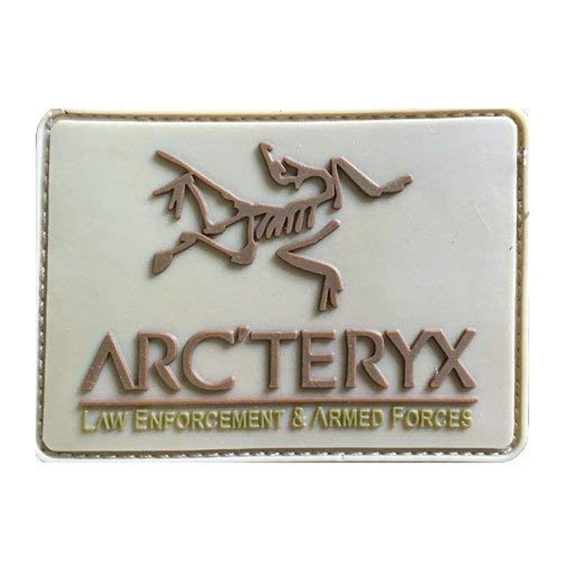 世界的に詩省Arc'teryx LEAF PATCH PVC TAN タン ワッペン パッチ アークテリクス リーフ (タン) [並行輸入品]