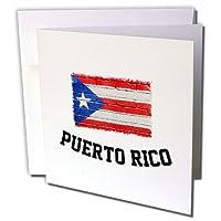 カルステンライジンガーイラスト−–Illustrations–プエルトリコDistressed Flag onレンガ壁–グリーティングカード Set of 6 Greeting Cards