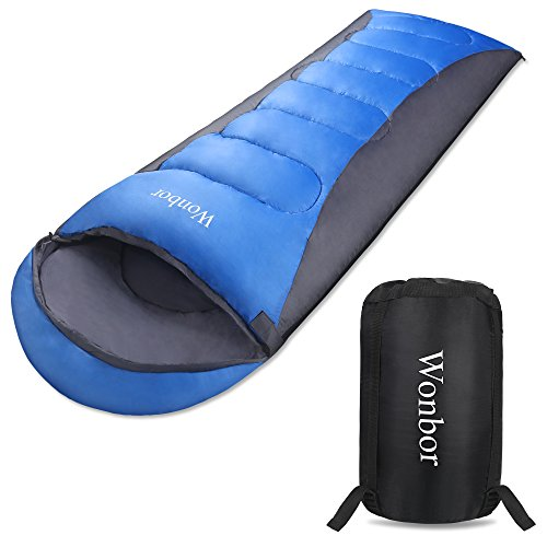 Wonbor 寝袋 シュラフ 春夏秋用 封筒型 スリーピングバッグ -2℃-30℃ 防水 軽量 コンパクト収納袋 登山