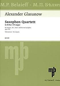 グラズノフ : 四重奏曲 パート譜 (サクソフォン四重奏) ベライエフ出版