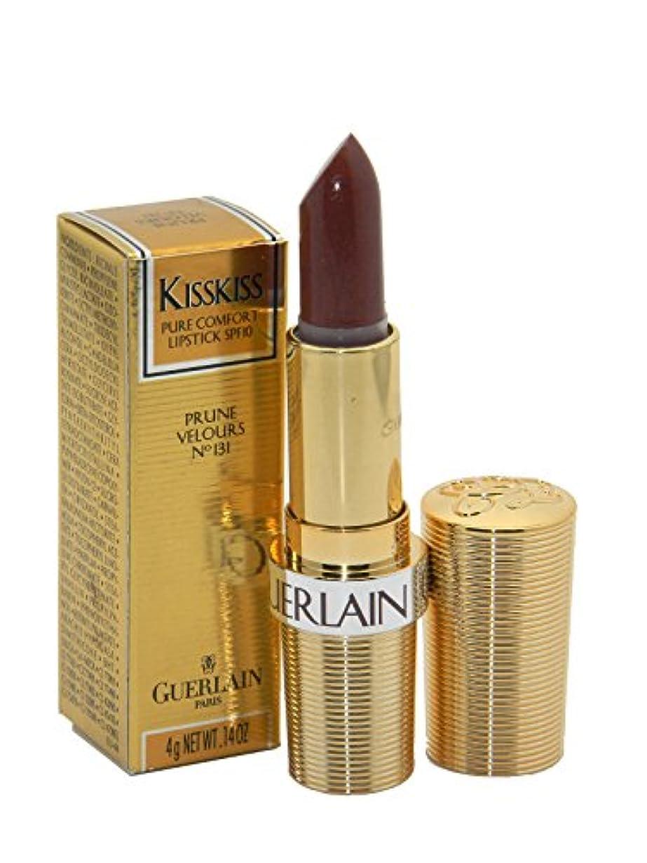 四半期薄暗い拳Guerlain Lipstick Kisskiss Prune Velours No.131(ゲラン キスキス リップスティック プルーンベロア No.131) [並行輸入品]
