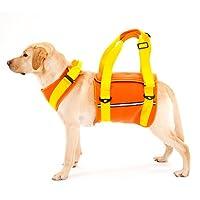 With(ウィズ) 歩行補助ハーネス LaLaWalk 大型犬用 ネオプレーンオレンジ SSサイズ