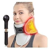 首頸部牽引装置、調節可能でインフレータブル首の保護脊椎固定矯正痛みを軽減する家庭での使用、男性または女性のためのサポート,B