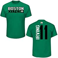 Majestic Boston Celtics Kyrie Irving Green Vertical Print Name and Number T-Shirt