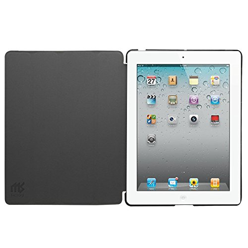 MS factory iPad2 iPad3 iPad4 スマート カバー バック ケース 一体型 オートスリープ iPad 2 3 4 スタンド ケースカバー 全11色 ブラック 黒 IPD-SMART-BK