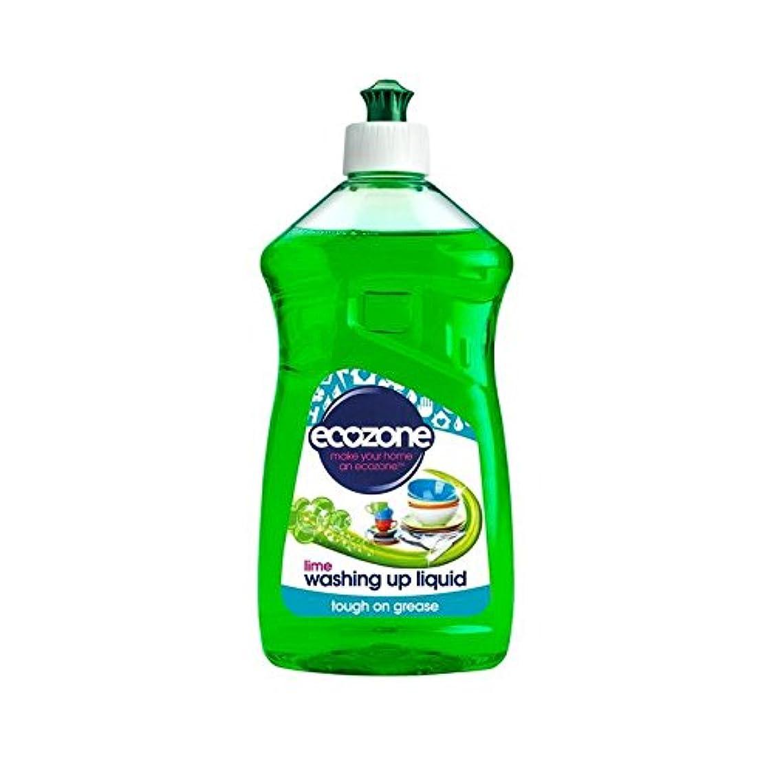 溝チョーク主権者食器洗い液体ライム500ミリリットル (Ecozone) (x 4) - Ecozone Washing Up Liquid Lime 500ml (Pack of 4) [並行輸入品]