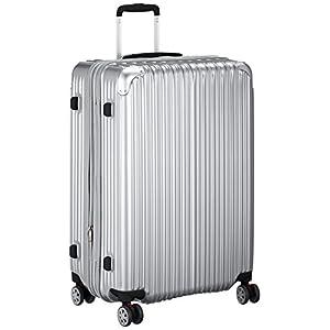 [トライデント] ハードジッパースーツケース キャリーケース Lサイズ 大型 容量アップ拡張機能付 1年保証付 97-102L 保証付 102.0L 67cm 4.9kg TRI2035-67 シルバー シルバー