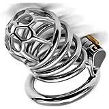 CXQ 男性のヘルスケアのためのステンレス鋼リング貞操ロック金属梅型ペニスロック (Size : 50mm)
