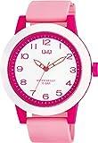 シチズン Q&Q 腕時計 アナログ ビックフェイス 防水 ウレタンベルト VS56-008 レディース ピンク ホワイト