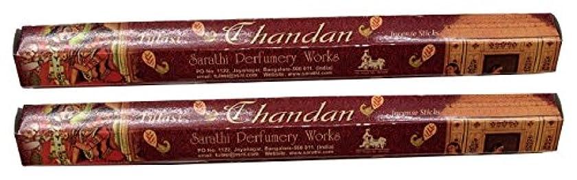 必要ない穀物果てしないTULASI サラチ STICKS お香 40本入り CHANDAN チャンダン 640117-2