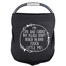 Car Seat Footmuffs 5 in 1 Cover – I'm Cute & Cuddly But Please Don't Touch Little Me