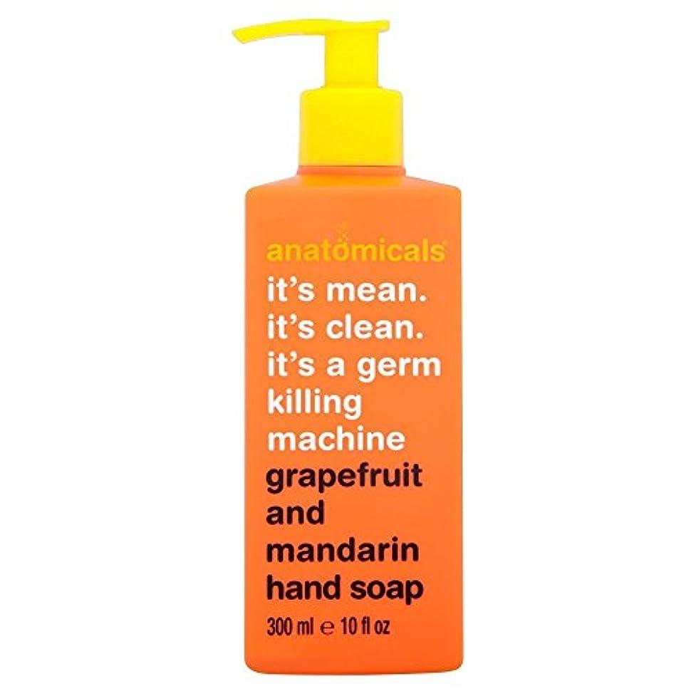 読み書きのできない植生節約Anatomicals It's Mean It's Clean It's a Germ Killing Machine Grapefruit & Mandarin Hand Soap (300ml) それはそれは、生殖殺人...