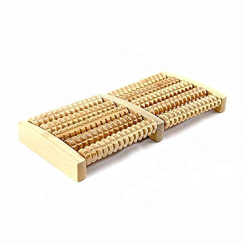 方向寮数学者足裏マッサージローラー 痛みやストレスを和らげるためにフットマッサージャーローラーの木製フットマッサージャーを持つ5つの行 軽量で使いやすく、足の痛みを和らげます (Color : As picture, Size : 27x12.5x3.5cm)