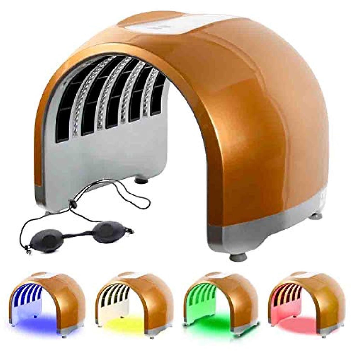 通貨それる小川4カラーライトセラピーは、LED光子マシンホームサロン使用のための携帯用PDTにきびしわアンチエイジングフェイシャルケア美容トリートメントマスク