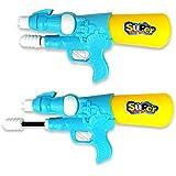子供の水鉄砲のおもちゃ高圧ポンプ水鉄砲のおもちゃビーチ水遊びおもちゃ夏の裏庭のゲームで爆発 ( Color : Blue , Size : S )