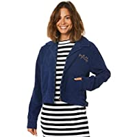 Afends Women's Womens Erin Bomber Cord Jacket Cotton Pu Blue
