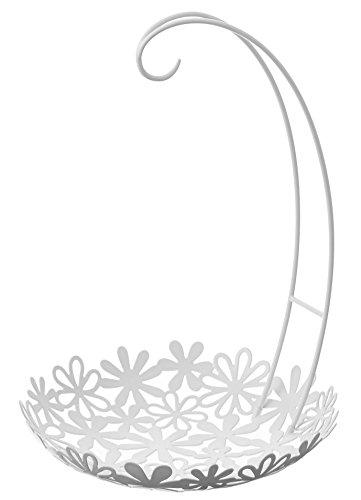 山崎実業 バナナスタンド&フラワーバスケット ホワイト 2468