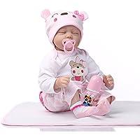 Decdeal 幼児 赤ちゃんの人形 女の子 PP詰め物のボディ 実物 かわいい ギフト おもちゃ