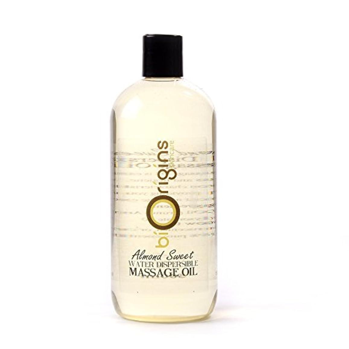 服を洗う悪行ロータリーAlmond Sweet Water Dispersible Massage Oil - 1 Litre - 100% Pure