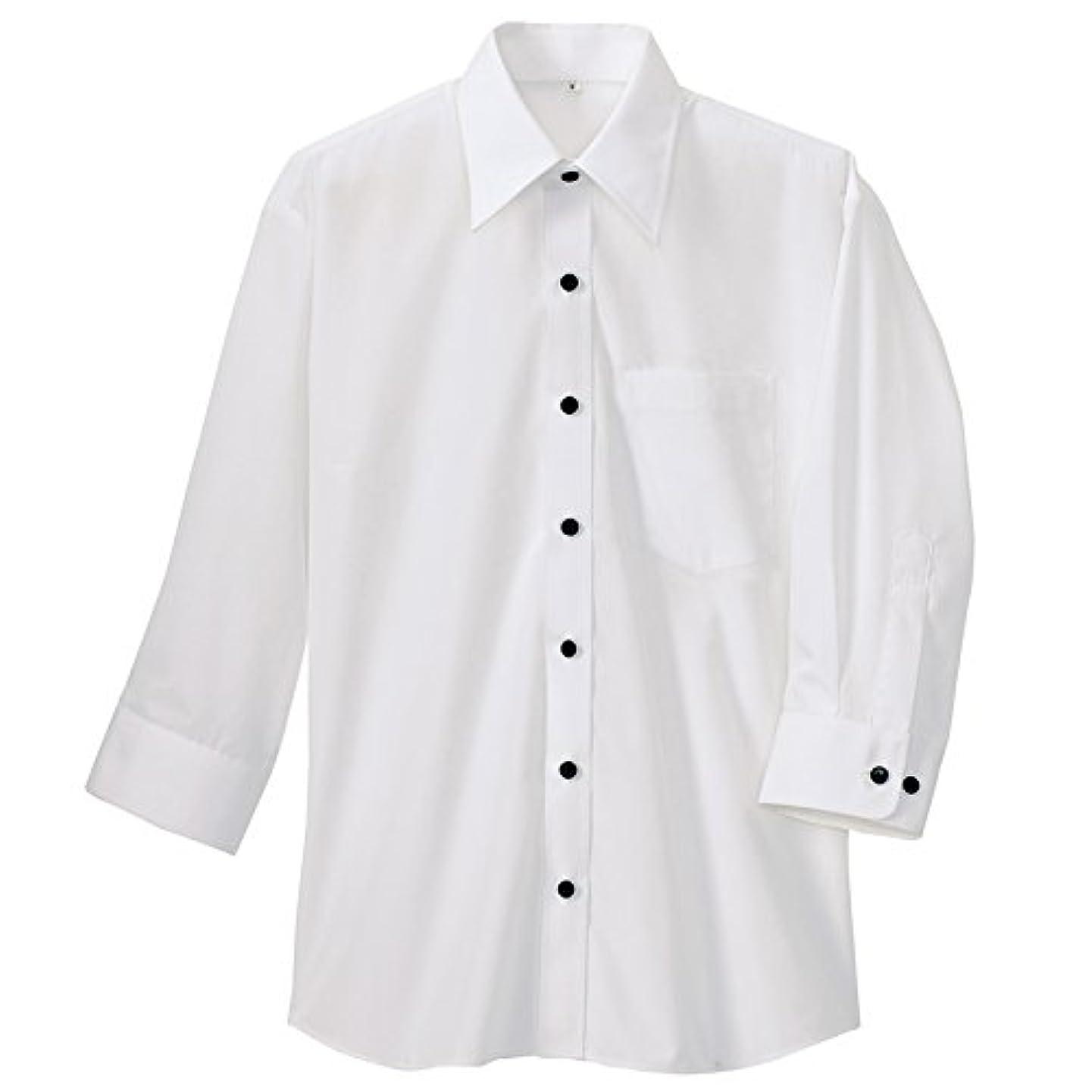 着替える出席嬉しいですアイトス AITOZ 七分袖シャツ(春夏用)(男女兼用) AZ-8022-001ホワイト 5Lサイズ
