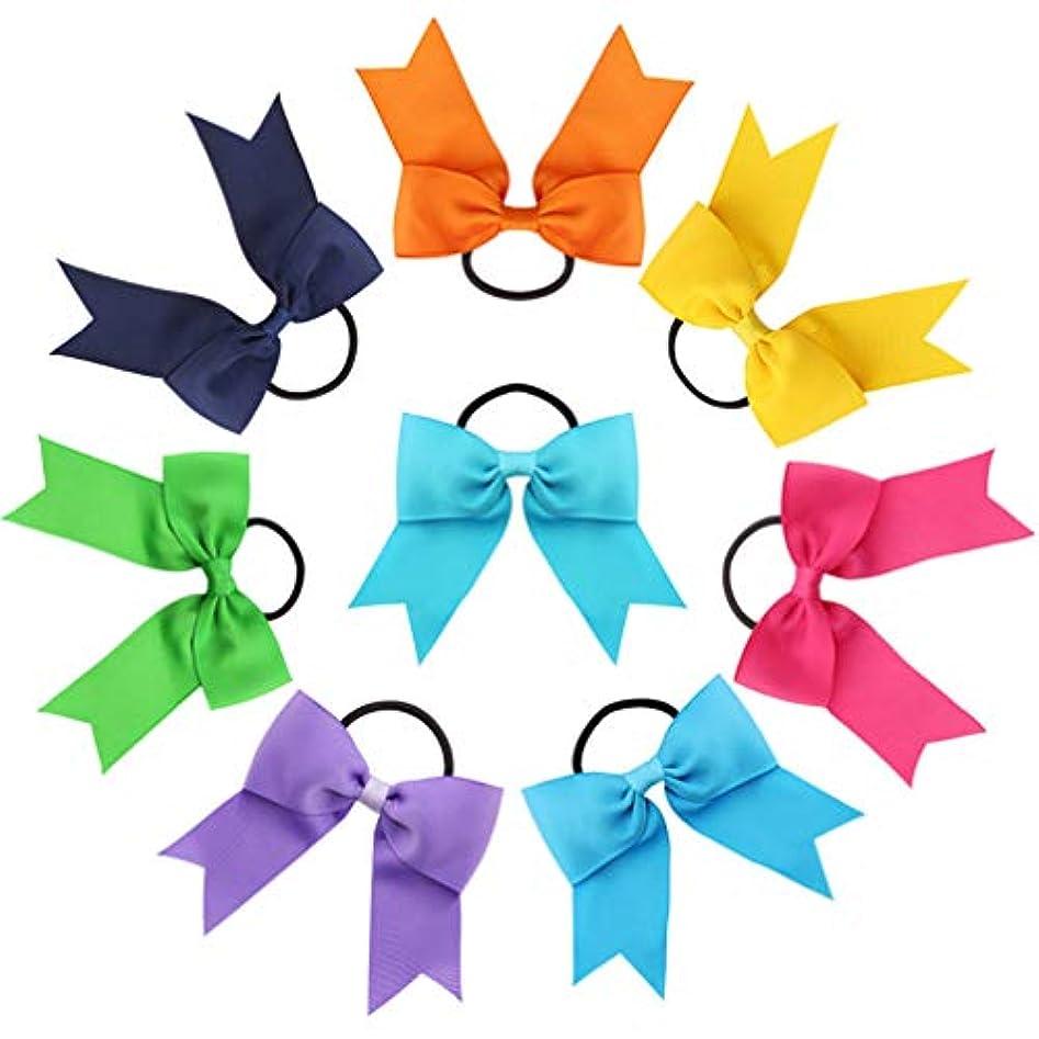 Lurrose 8ピースヘアネクタイ弓子供ヘアネクタイヘッドバンドロープヘアゴムポニーテール赤ちゃん女の子リボンヘアバンド