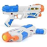 Waronail 子供の水鉄砲のおもちゃ、水のおもちゃ、ビーチの漂流水泳水泳のおもちゃ、カタパルト銃、子供の贈り物 ( Color : Blue , Size : S )