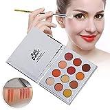 アイシャドウパレット 12色 化粧マット 化粧品ツール グロス アイシャドウパウダー