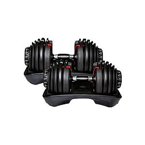 ダンベル 24kg * 2 個 セット ワンタッチ 15段階調整 可能可変式ダンベル