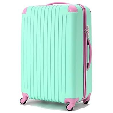 (ファーストドア) 1STDOOR 超軽量スーツケース TSAロック付 (Sサイズ(34L), パステルグリーン)